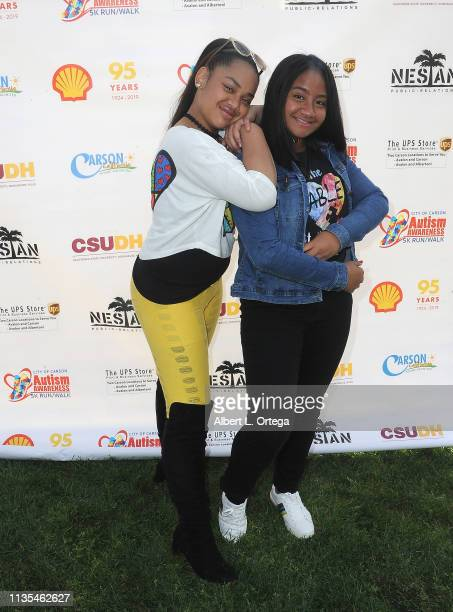 Nancy Fifita and Bluani attend City Of Carson's Presentation of Autism Awareness 5K Walk/Runds held at California State University Dominguez Hills on...