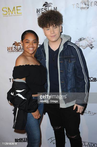 Nancy Fifita and Will B arrive for the Viewing Of Final 3 Of The Rap Game held at Station1640 on March 7 2019 in Hollywood California
