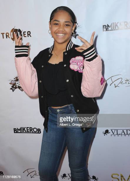 Nancy Fifita arrives for the Viewing Of Final 3 Of The Rap Game held at Station1640 on March 7 2019 in Hollywood California