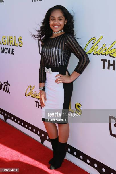 Nancy Fifita attends GenZ Studio Brat's Premiere Of Chicken Girls at Ahrya Fine Arts Theater on June 28 2018 in Beverly Hills California
