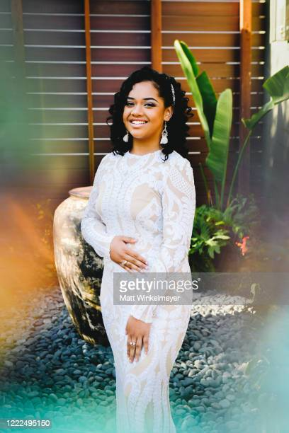 Nancy Fifita attends #SaveProm a virtual prom for high school kids hosted by My School Dance and Charlotte's Closet on May 2 2020 in Hawthorne...