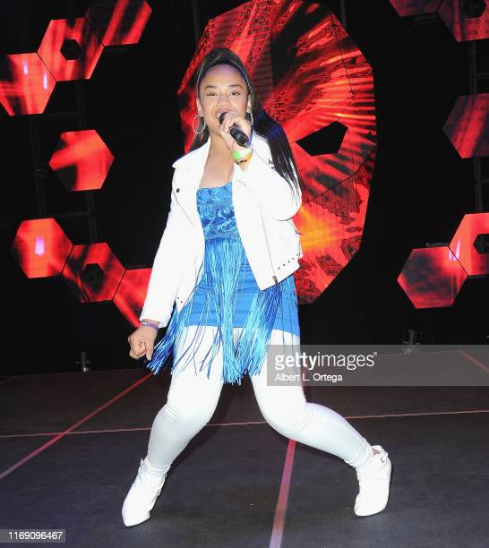 Nancy Fifita performs at Singer Will B's 17th Birthday Party held at Starwest Studios on August 17 2019 in Burbank California