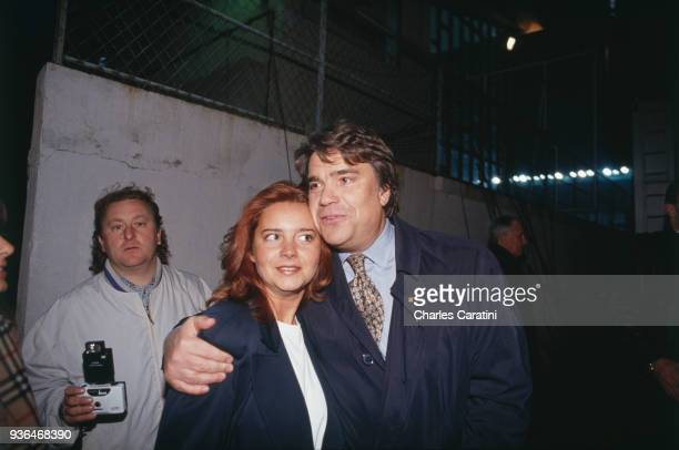 Nancy French businessman Bernard Tapie with his daughter Nathalie attend a french soccer match The day before he has been designated town minister 3d...