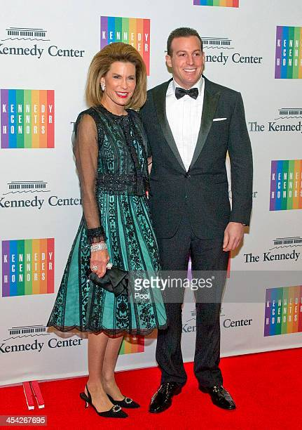 Nancy G Brinker and Howard Bernick arrive for the formal Artist's Dinner honoring the recipients of the 2013 Kennedy Center Honors hosted by United...