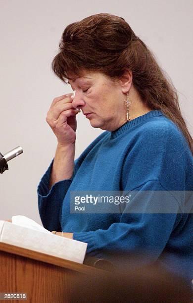 Nancy Gabbert mother of Green River Killer victim Sandra Gabbert speaks at the sentencing of Gary Ridgway in King County Washington Superior Court...