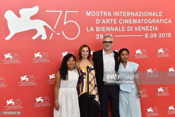 Nancy Garc'a Garc'a Marina de Tavira Alfonso Cuaron and Yalitza Aparicio attend 'Roma' photocall during the 75th Venice Film Festival at Sala Casino...