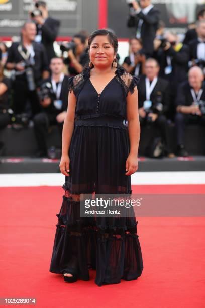 Nancy García García walks the red carpet ahead of the 'Roma' screening during the 75th Venice Film Festival at Sala Grande on August 30 2018 in...
