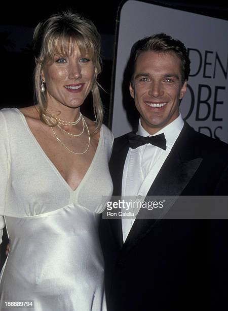 Nancy George and John Clark Gable attend 52nd Annual Golden Globe Awards on January 21 1995 at the Beverly Hilton Hotel in Beverly Hills California