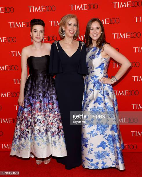 Nancy Gibbs and daughters attend the 2017 Time 100 Gala at Jazz at Lincoln Center on April 25, 2017 in New York City.