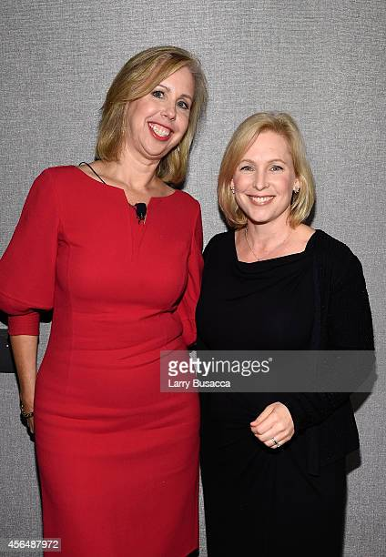 Nancy Gibbs and Kirsten Gillibrand attend the TIME and Real Simple's Women Success event at the Park Hyatt on October 1 2014 in New York City