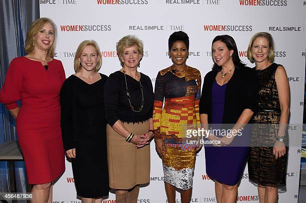 Nancy Gibbs, Kirsten Gillibrand, Linda McMahon, Tamron Hall, Kristen Anderson-Lopez and Kristen Van Ogtrop attend the TIME and Real Simple's Women &...