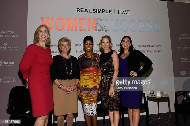 Nancy Gibbs, Linda McMahon, Tamron Hall, Kristen Van Ogtrop and Kristen Anderson-Lopez attend the TIME and Real Simple's Women & Success event at the...