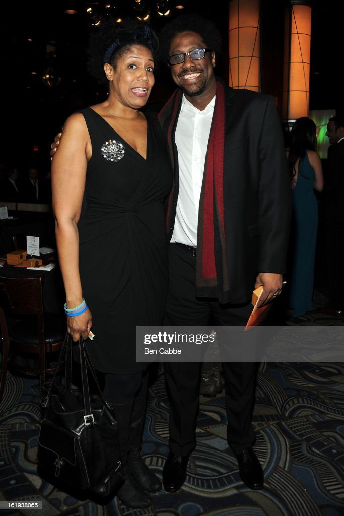 Nancy Giles and W. Kamau Bell attend 65th Annual Writers Guild East Coast Awards After Party at B.B. King Blues Club & Grill on February 17, 2013 in New York City.