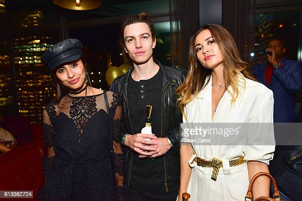 Nancy Gomez Ian Mellencamp and Ana Tanaka attend Moet The Cinema Society Host a Party for the NYFF Premiere of IFC Films' 'Personal Shopper' at The...