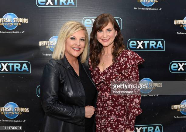 Nancy Grace and Kellie Martin visit Extra at Universal Studios Hollywood on April 23 2019 in Universal City California