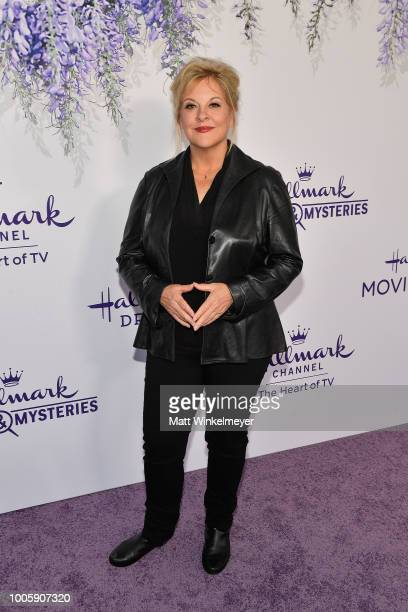 Nancy Grace attends the 2018 Hallmark Channel Summer TCA at Private Residence on July 26 2018 in Beverly Hills California
