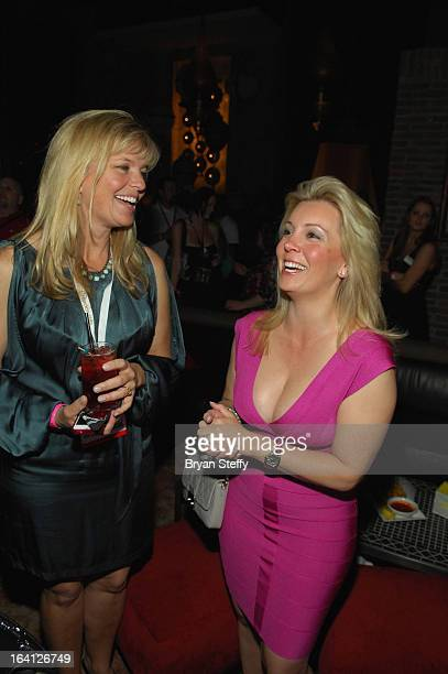 Nancy Hadley and Nicole Taffer appear during a Bar Rescue happy hour event at the Lavo Restaurant Nightclub at The Palazzo Las Vegas during the 28th...