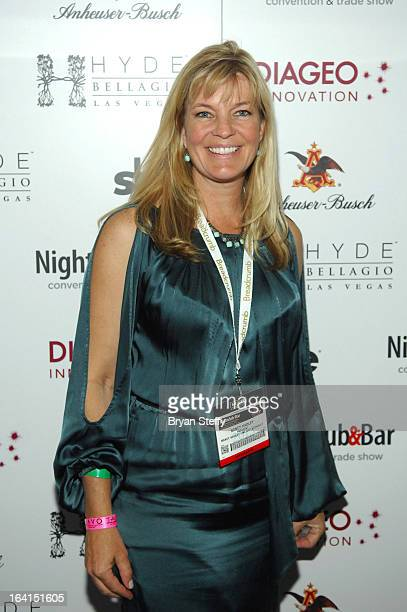 Nancy Hadley arrives at a Platinum party at Hyde Bellagio at the Bellagio during the 28th annual Nightclub Bar Convention and Trade Show on March 19...