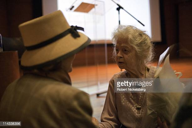 Nancy Hatch Dupree, left, speaks to a woman during an award ceremony in her honor May 9, 2011 at the Rubin Museum of Art in New York. Dupree received...