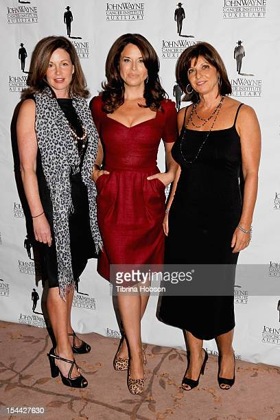 Nancy Heim Laura Baron and Paula Pinhas attend the the John Wayne Cancer Institute Auxiliary annual awards luncheon at Beverly Hills Hotel on October...