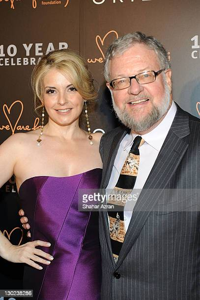 Nancy Hunt and David Rockefeller attends the We Are Family Foundation 10 Year Celebration Gala at the Hammerstein Ballroom on October 24 2011 in New...