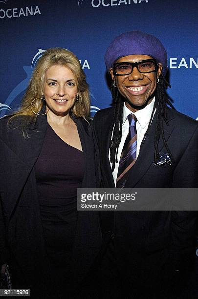 Nancy Hunt and Merrill Rogers attend the Oceana New York launch event on October 19 2009 in New York City