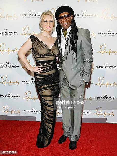 Nancy Hunt and Musician Nile Rodgers attend We Are Family Foundation 2014 Gala at Hammerstein Ballroom on March 6 2014 in New York City