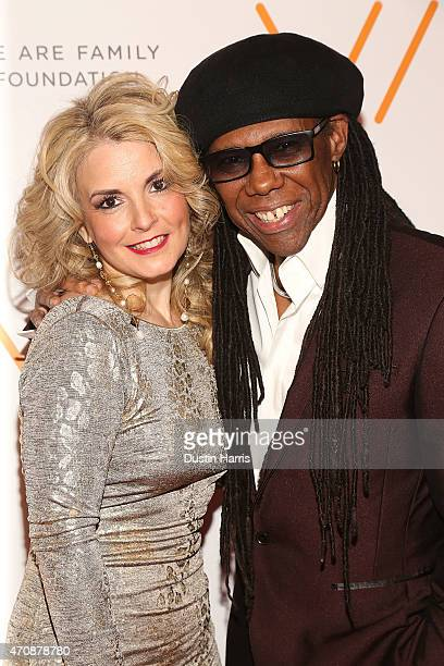 Nancy Hunt and Nile Rodgers attends The 2015 We Are Family Foundation Celebration Gala at Hammerstein Ballroom on April 23 2015 in New York City
