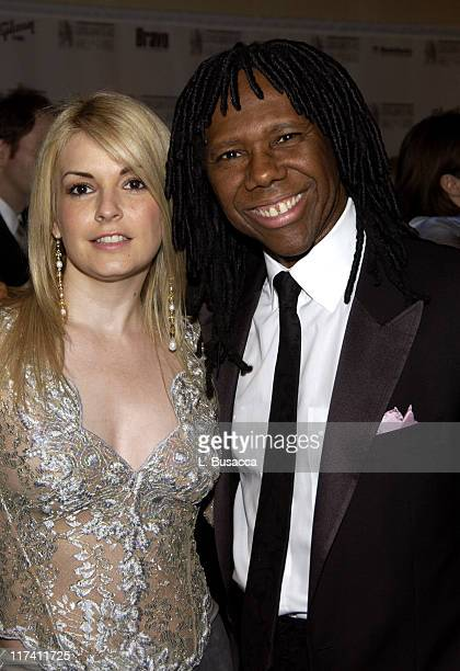 Nancy Hunt and Nile Rodgers during 35th Annual Songwriters Hall of Fame Awards Induction VIP Cocktail Reception at Marriott Marquis Hotel in New York...