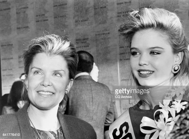 Nancy Janice Moore and her daughter Nancy Thurmond at the Cherry Blossom State Society reception April 9 1990