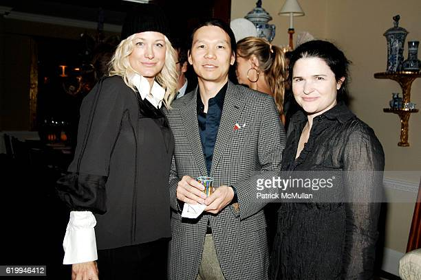 Nancy Jarecki Heather Shatz and Eric Chan attend ROGER VIVIER Hosts Cocktail Event For NEW YORKERS FOR CHILDREN at Roger Vivier on October 22 2008 in...