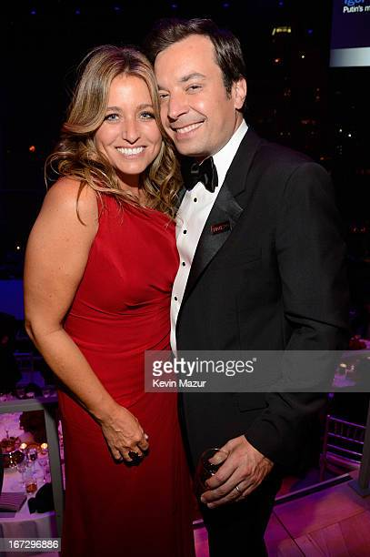 Nancy Juvonen and Jimmy Fallon attend TIME 100 Gala TIME'S 100 Most Influential People In The World at Jazz at Lincoln Center on April 23 2013 in New...