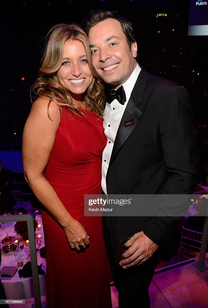 Nancy Juvonen and Jimmy Fallon attend TIME 100 Gala, TIME'S 100 Most Influential People In The World at Jazz at Lincoln Center on April 23, 2013 in New York City.