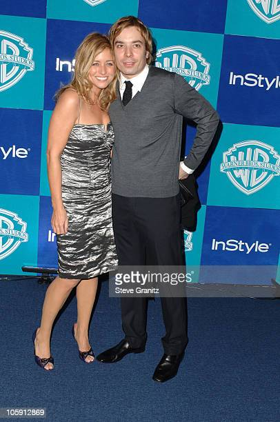 Nancy Juvonen and Jimmy Fallon during InStyle Warner Bros 2006 Golden Globes After Party Arrivals at Beverly Hilton in Beverly Hills California...