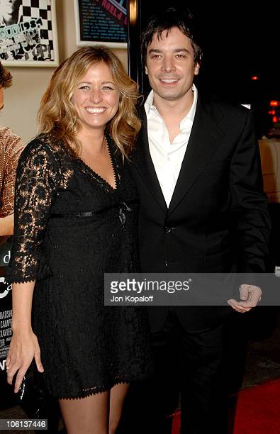 Nancy Juvonen and Jimmy Fallon during Music and Lyrics Los Angeles Premiere Arrivals at Grauman's Chinese Theatre in Hollywood California United...