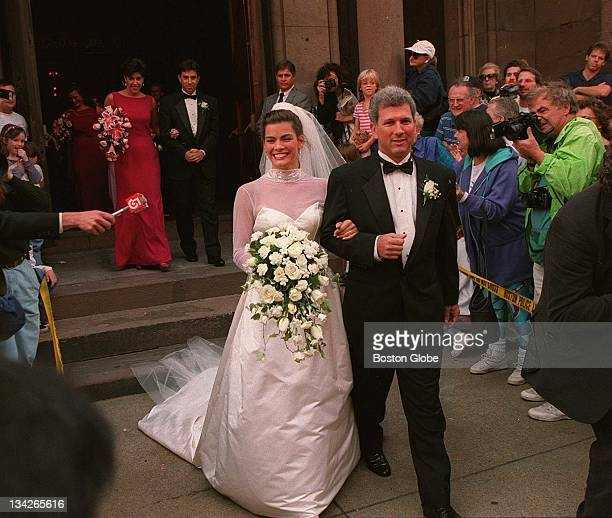 Nancy Kerrigan and Jerry Solomon on their wedding