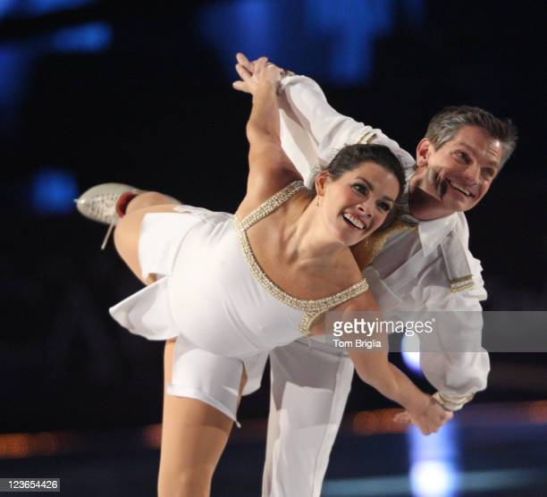 Nancy Kerrigan and Paul Wylie perform in the Caesars Tribute A Salute to the Golden Age of American Skating at the Boardwalk Hall Arena on December...