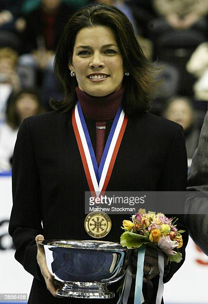 Nancy Kerrigan is inducted into the US Figure Skating Hall of Fame during the State Farm US Figure Skating Championships January 9 2004 at Philips...