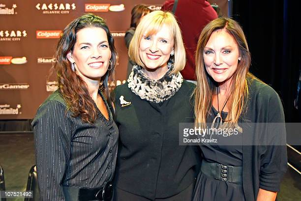 Nancy Kerrigan JoJo Starbuck and Peggy Fleming attends a press conference held for 'A Salute to the Golden Age of American Skating' at the Circus...