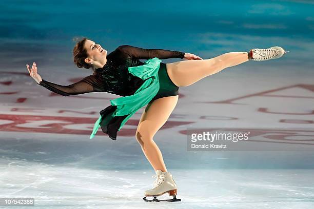 Nancy Kerrigan skates during A Salute To The Golden Age Of American Skating show at Boardwalk Hall Arena on December 11 2010 in Atlantic City New...