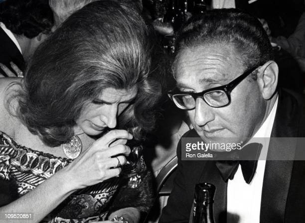 Nancy Kissinger and Henry Kissinger during Premiere of 'The Godfather' in New York After Party at St Regis Hotel in New York City New York United...