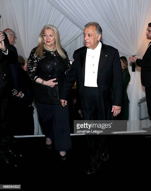 Nancy Kovack and Zubin Mehta attend the American Friends of the Israel Philharmonic Orchestra Duet Gala at the Wallis Annenberg Center for the...