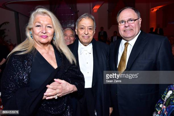 Nancy Kovack Zubin Mehta and Ambassador Dani Dayan attend the Israel Philharmonic Orchestra Gala at 583 Park Avenue on October 25 2017 in New York...