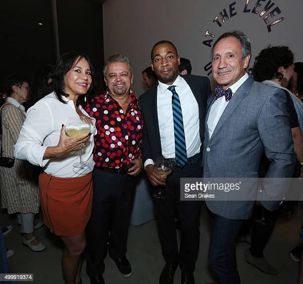 Nancy Lara Juan Martin Franklin Sirmans director of Perez Art Museum Miami and Alvaro Lara pose at Perez Art Museum Miami during Art Basel Miami...