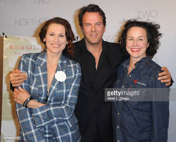 Nancy LaScala Jay Huguley and Angela Shelton arrive for the premiere of 'Heart Baby' held at The Ahrya Fine Arts Laemmle Theater on November 23 2018...