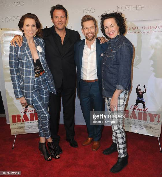 Nancy LaScala Jay Huguley ShawnCaulin Young and Angela Shelton arrive for the premiere of 'Heart Baby' held at The Ahrya Fine Arts Laemmle Theater on...