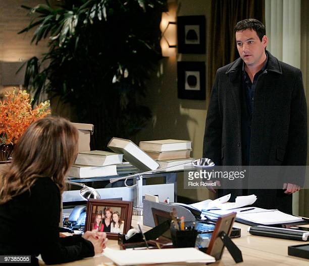 HOSPITAL Nancy Lee Grahn and Tyler Christopher in a scene that airs the week of March 8 2010 on ABC Daytime's 'General Hospital' 'General Hospital'...