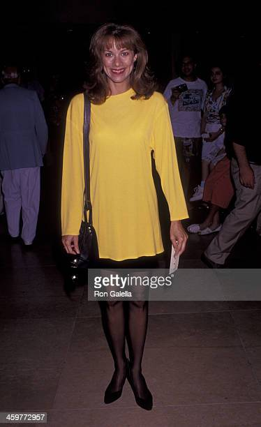 Nancy Lee Grahn attends Daytime NonTelevisied Emmy Awards on June 22 1991 at the Beverly Hilton Hotel in Beverly Hills California