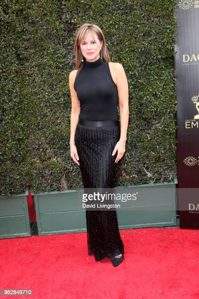 Nancy Lee Grahn attends the 45th annual Daytime Emmy Awards at Pasadena Civic Auditorium on April 29, 2018 in Pasadena, California.