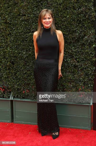 Nancy Lee Grahn attends the 45th annual Daytime Emmy Awards at Pasadena Civic Auditorium on April 29 2018 in Pasadena California